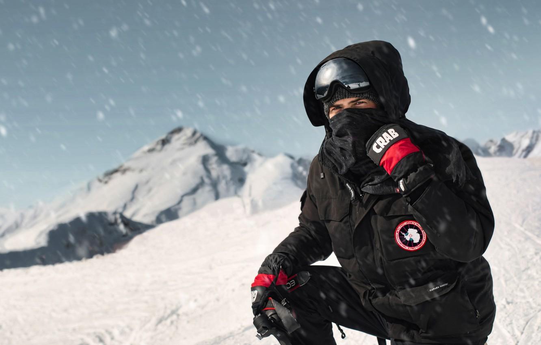 Фото обои снег, горы, буря, Артём Ревуцкий, Artem Revutsky, canada goose, 2320 метров