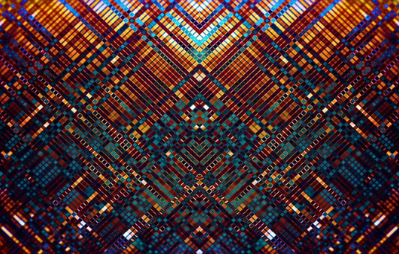 Фото обои мозаика, абстракция, узор, ярко