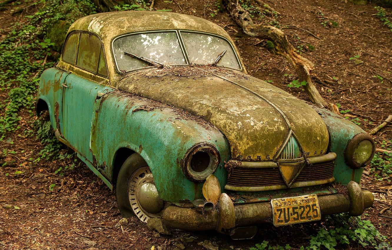 Обои автомобил, лес, брошенный, ржавчина, старый. Разное foto 8