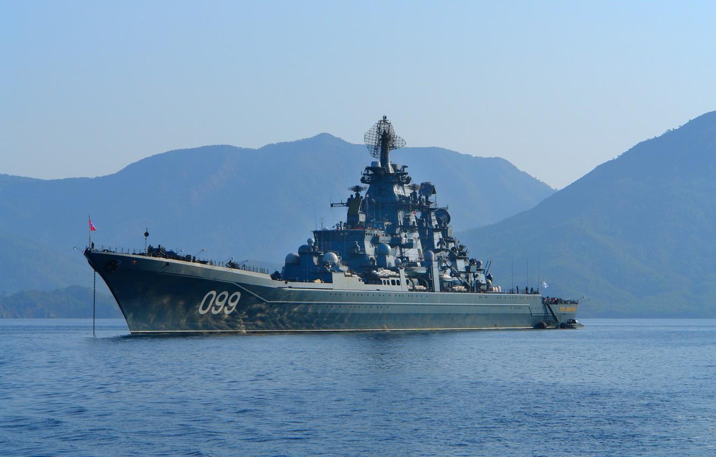 фотографии крейсер петр великий