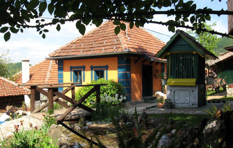Фото обои колодец, Сербия, Дома Злакуса