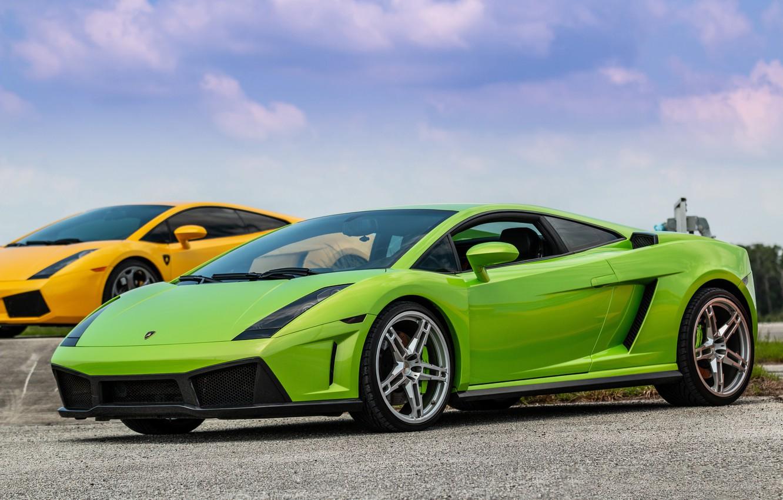 Фото обои Lamborghini, Gallardo, Green