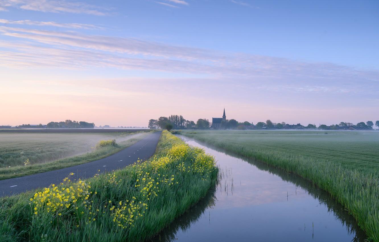 Фото обои Holland, Good Morning, Woudse Polder
