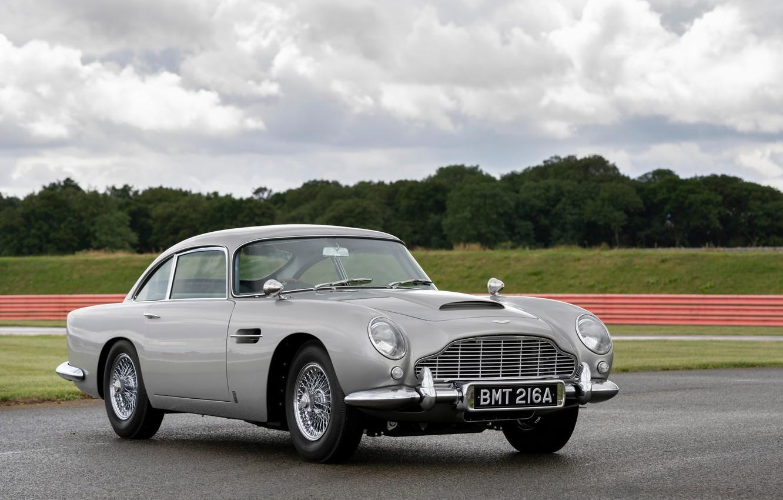 Фото обои серый, Aston Martin, 2020, DB5 Goldfinger Continuation