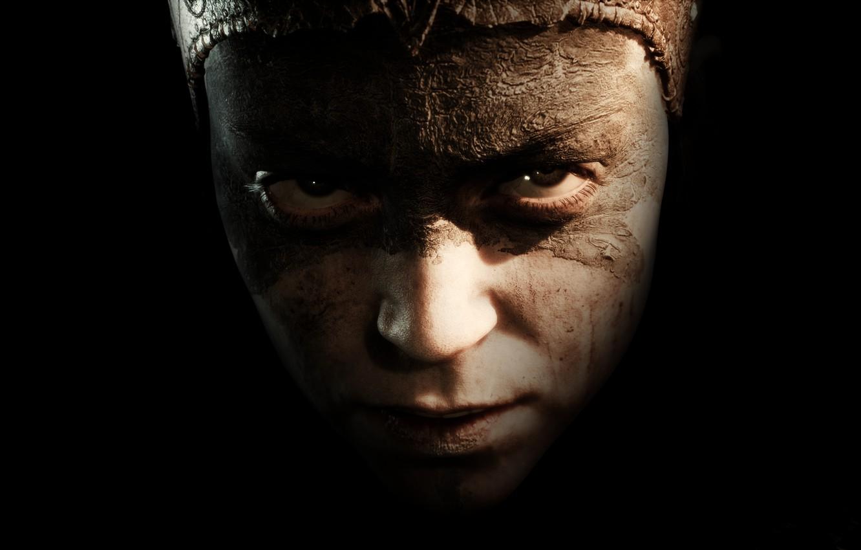Фото обои взгляд, игра, портрет, Hellblade: Senua's Sacrifice