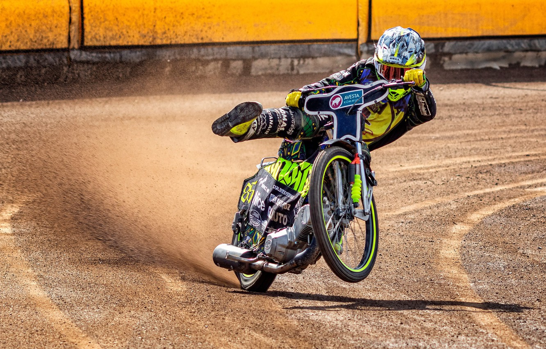 Фото обои гонка, мотоцикл, Speedway