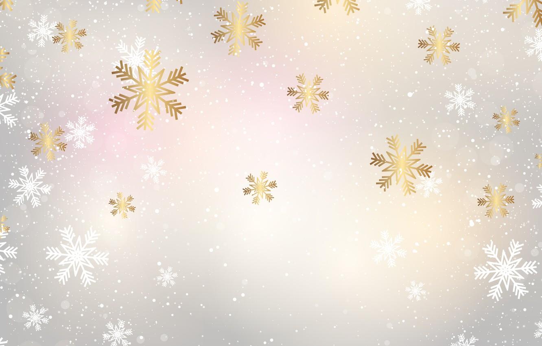 Фото обои зима, снег, снежинки, фон, Christmas, winter, background, snow, snowflakes