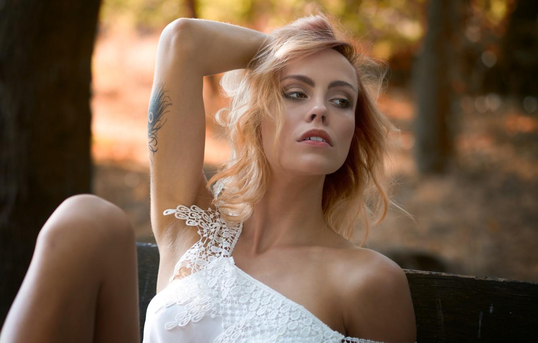 Фото обои девушка, лицо, модель, Martin Fuhrmann