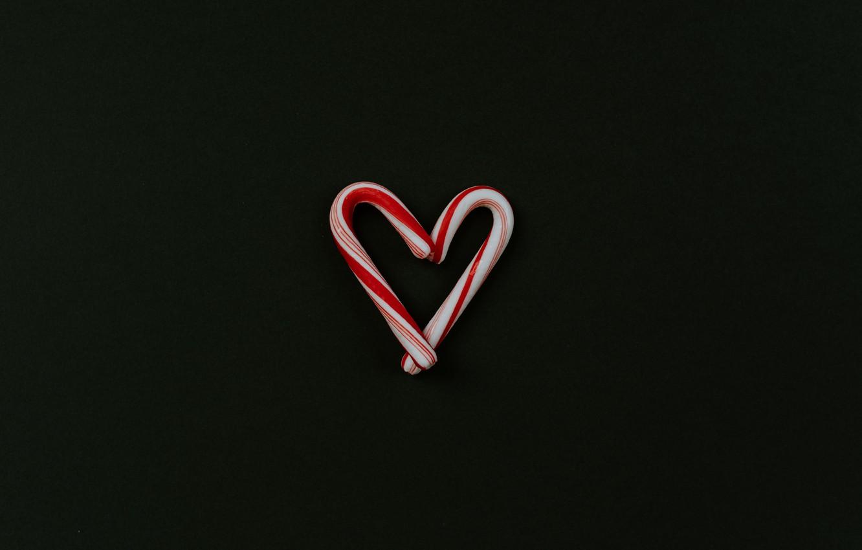 Фото обои любовь, фон, сердце, минимализм, леденцы