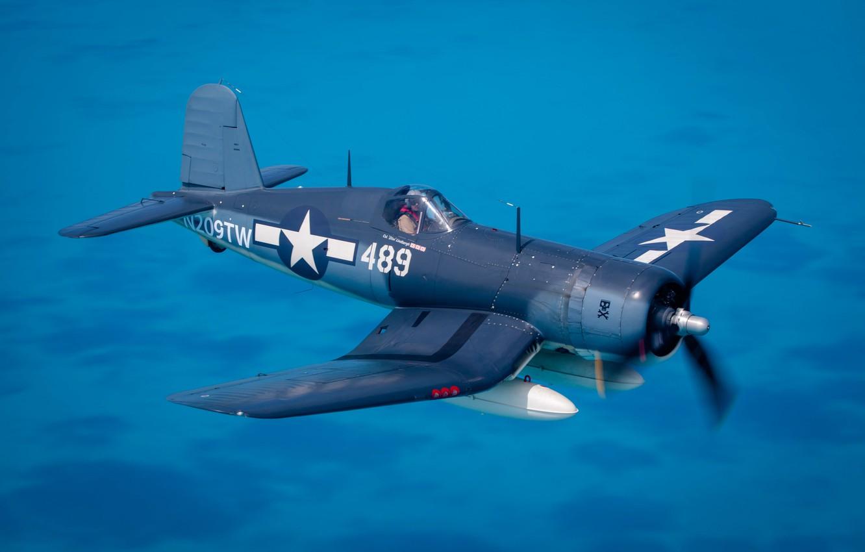 Обои Вторая мировая, F4u corsair, chance vought. Авиация foto 7