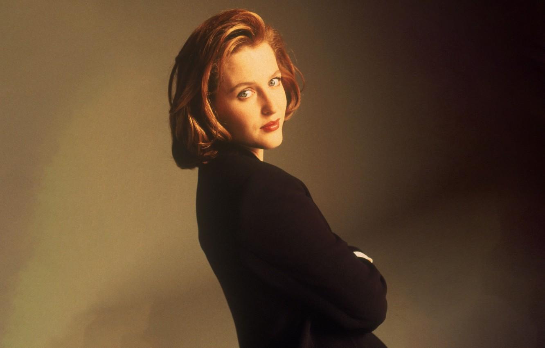 Фото обои взгляд, сериал, The X-Files, Секретные материалы, дана, скалли