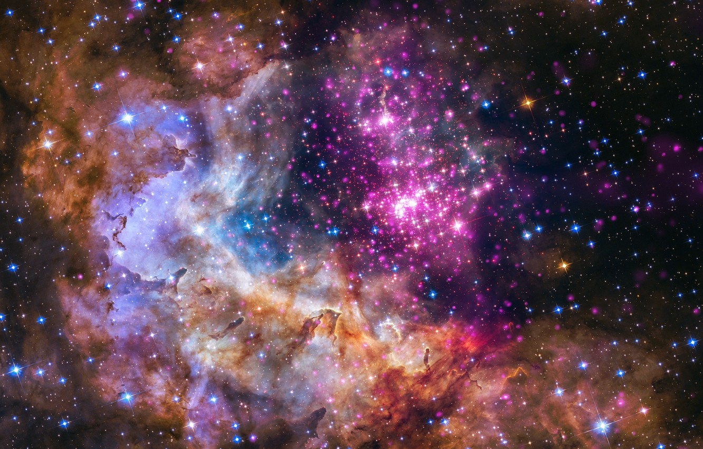 Фото обои космос, звезды, галактика