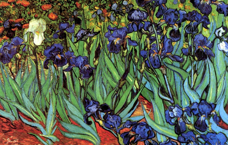 Обои масло, картина, Винсент ван Гог, Деревня Вечером. Разное foto 9