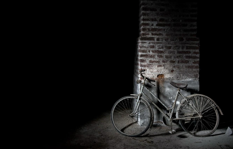 Фото обои велосипед, лом, натурализм