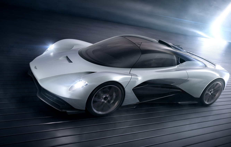 Фото обои машина, движение, Aston Martin, фары, concept, диски, Valhalla, AM-RB 003