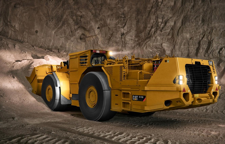 Фото обои шахта, грунт, Caterpillar, погрузчик, R1700G