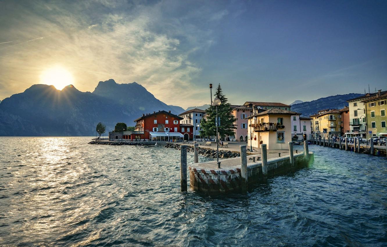 Обои Пейзаж, причалы, лодки, ticino, швейцария, дома, ascona, набережная. Города foto 8