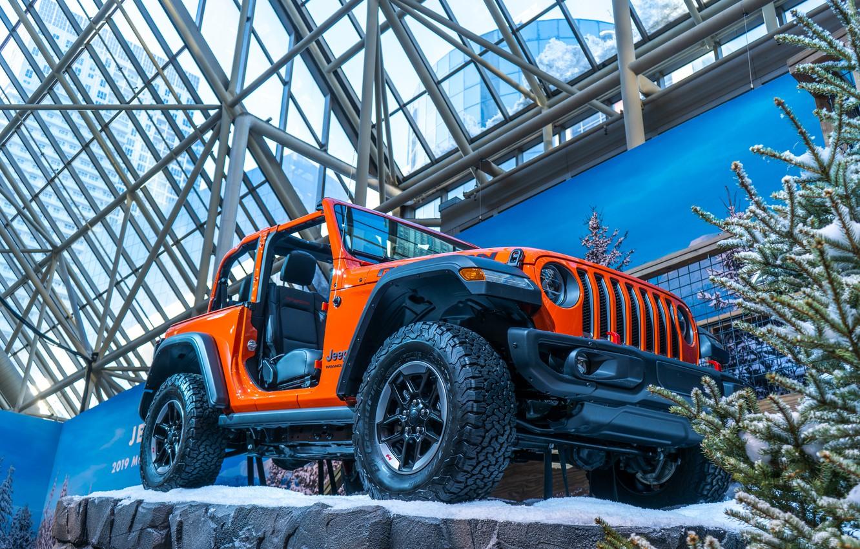 Фото обои car, cars, jeep, orange, track, toronto, 2019, Autoshow