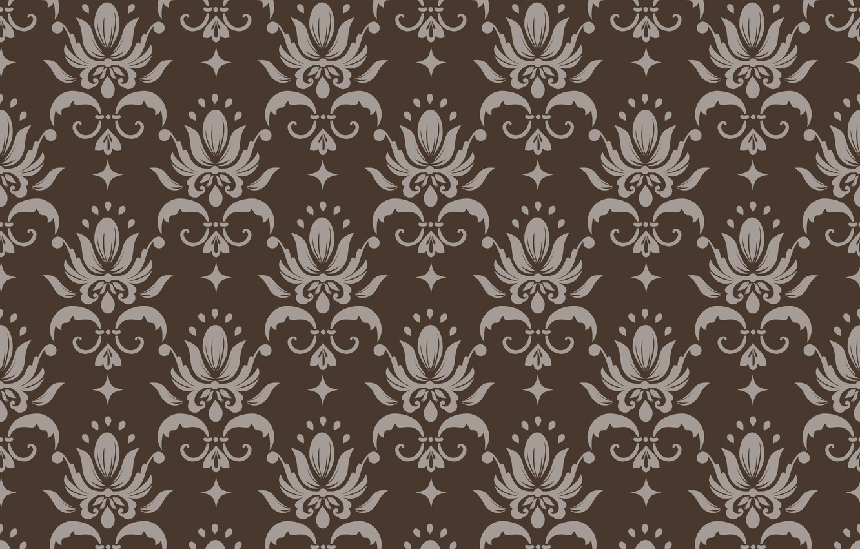 Фото обои ретро, фон, коричневый, орнамент, style, винтаж, бежевый, ornament, seamless, victorian