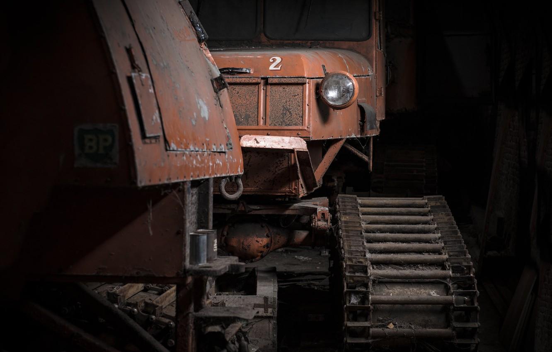 Фото обои машина, фон, трактор