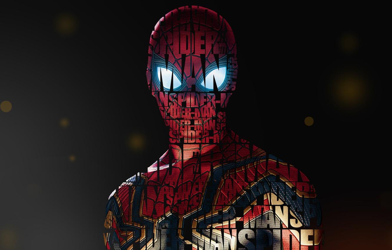 Фото обои Girl, Fantasy, Art, Style, Background, Illustration, Spider-Man, Spider Man, Typography, Creatures, Character, Umesh Dikonda