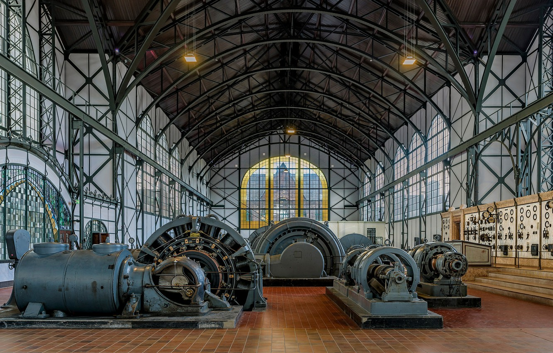 Фото обои Германия, музей, механизмы, Дортмунд, Zeche Zollern