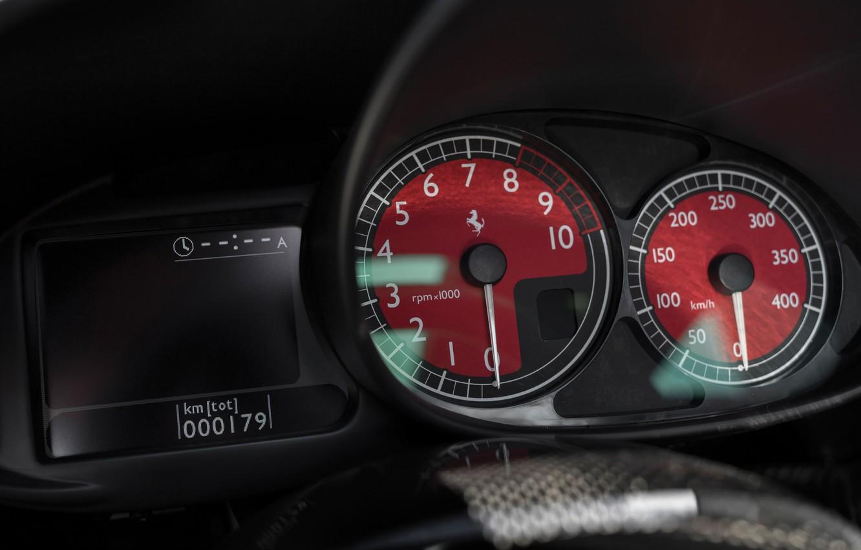 Фото обои Красные, Ferrari, Enzo, Панель приборов