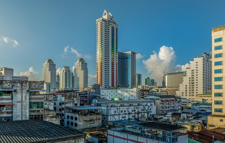 Обои реклама, здания, экраны, бангкок, дороги, тайланд. Города foto 14