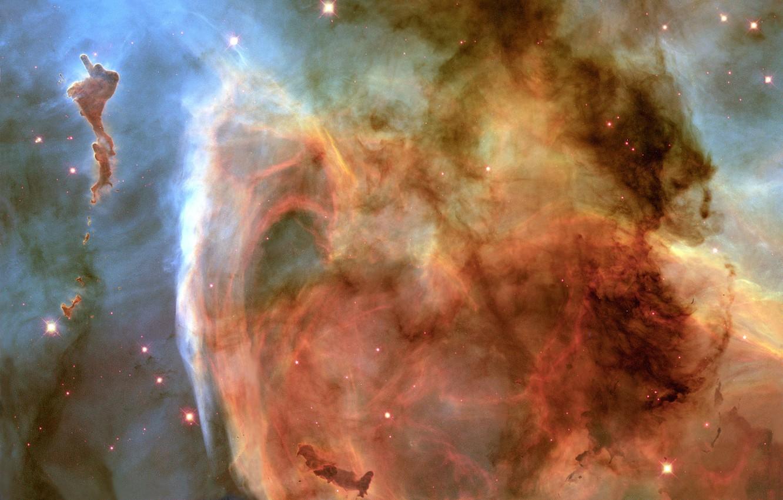 Фото обои Хаббл, Туманность, Млечный Путь, Carina Nebula, Keyhole Nebula