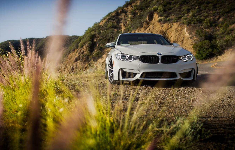 Фото обои BMW, Green, White, Mountains, F82