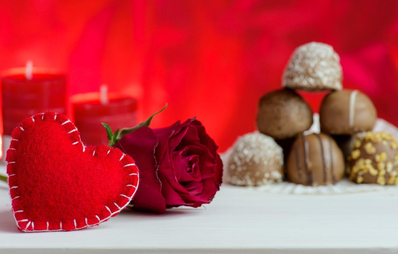 Фото обои любовь, розы, свечи, конфеты, красные, red, love, flowers, romantic, hearts, valentine's day, roses