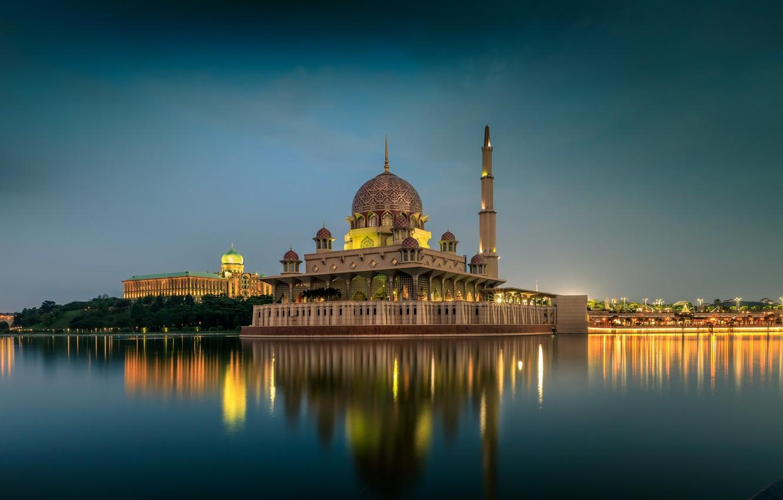 Фото обои озеро, храм, Малайзия, Куала-Лумпур