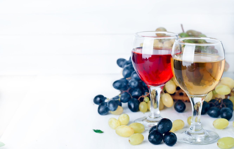 Обои Бутылки, кисть, орех, гроздь, виноград, бокалы, вино. Еда foto 18