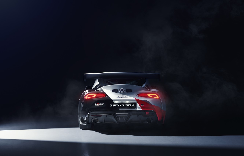 Фото обои машина, купе, concept, фонари, спорткар, Toyota, GT4, GR Supra