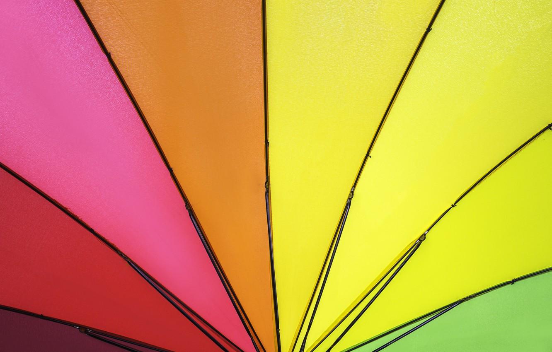 Фото обои фон, цвет, радуга, colors, зонт, colorful, rainbow, umbrella, background