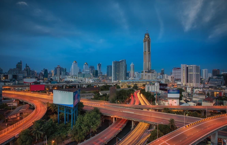 Обои реклама, здания, экраны, бангкок, дороги, тайланд. Города foto 11