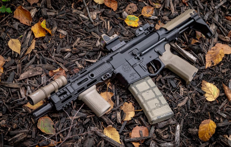 Фото обои оружие, винтовка, weapon, custom, м16, ar-15, assault rifle, m16, assault Rifle, ар-15, ар 15, ar …
