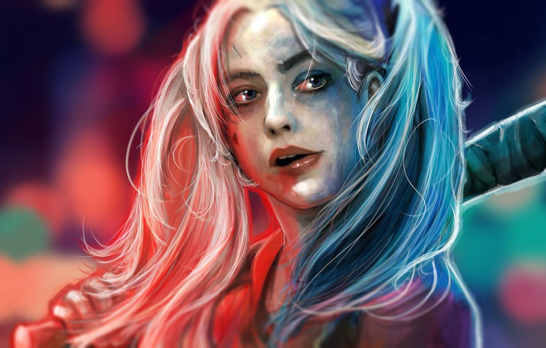Фото обои Лицо, DC Comics, Harley Quinn, Suicide Squad