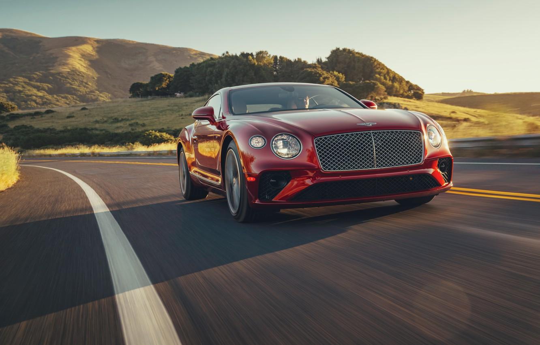 Фото обои Bentley, Continental GT, V8, 2019