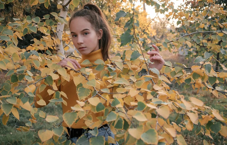Фото обои осень, природа, девочка