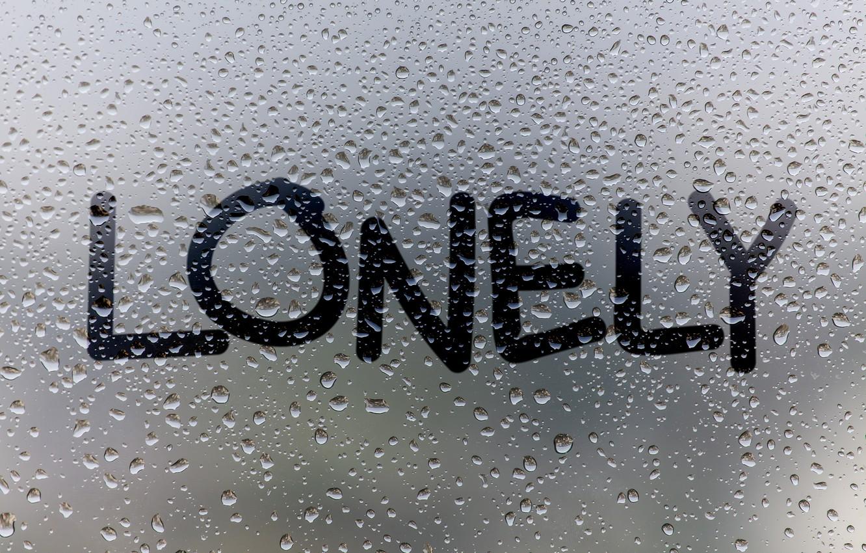 Фото обои стекло, вода, капли, дождь, окно, rain, window, drops, lonely