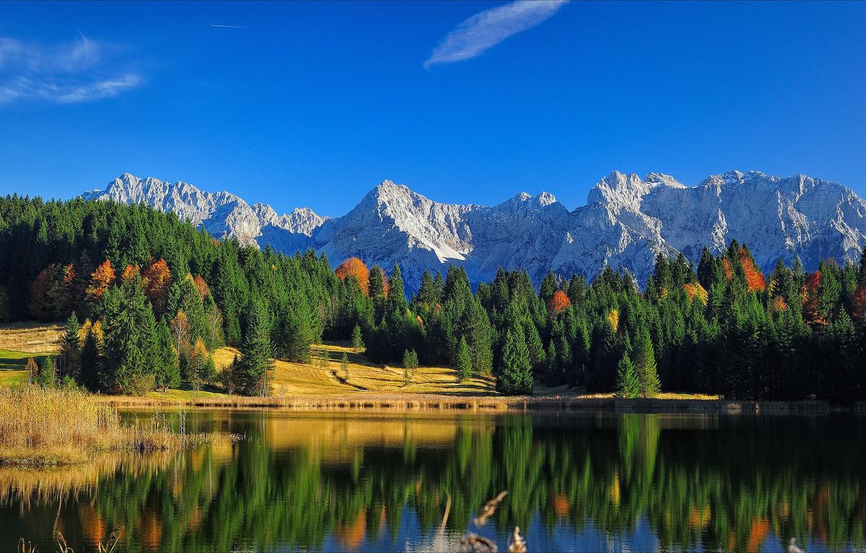 Обои Облака, бавария, германия, горы, природа, свет. Природа foto 9