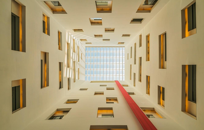 Фото обои здание, окна, windows, building, Antoni Figueras