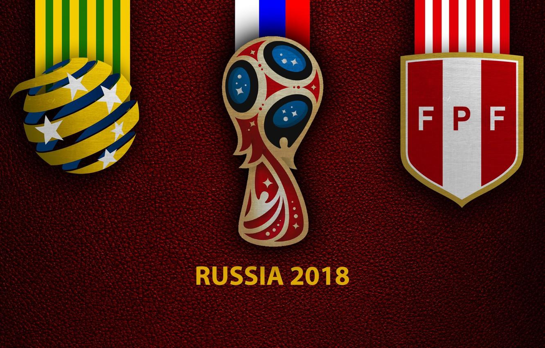 Фото обои wallpaper, sport, logo, football, FIFA World Cup, Russia 2018, Australia vs Peru
