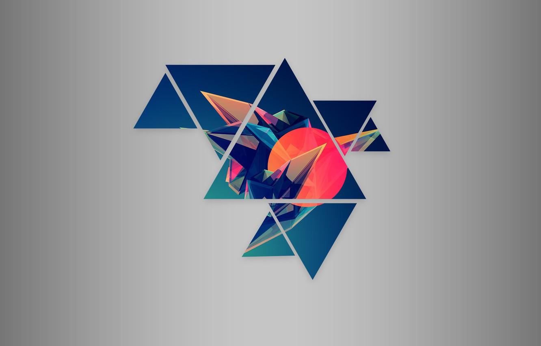 Обои Цвет, абстракция, треугольник. Абстракции foto 13