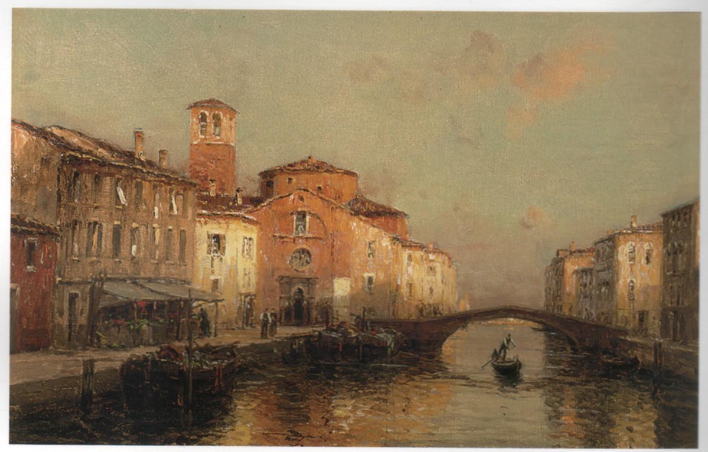 Фото обои мост, лодка, арка, BOUVARD, VENETIAN BACKWATERS 3