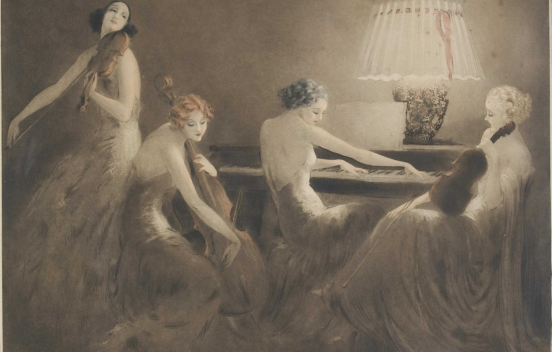 Фото обои 1934, Louis Icart, Час музыки