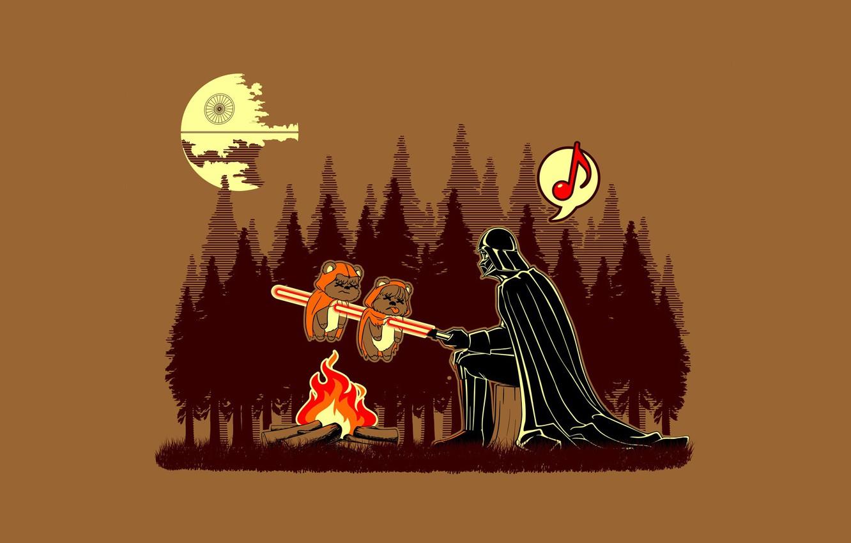 Фото обои Star Wars, Funny, Humor, Darth Vader helmet
