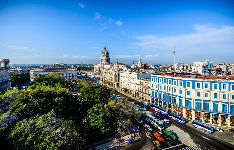 Обои куба, havana, ночь, Old Havana, Гавана. Города foto 9