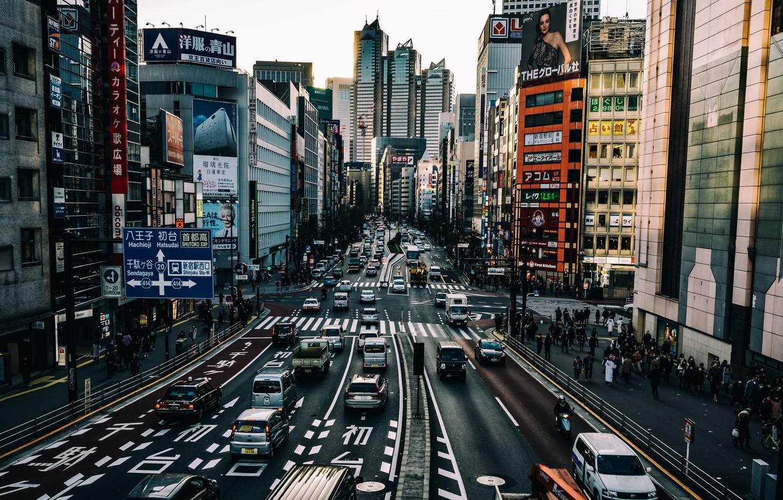 Фото обои город, улица, Токио